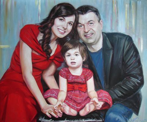 Виталий Викторович Жердев. Portrait of the Ivanov family