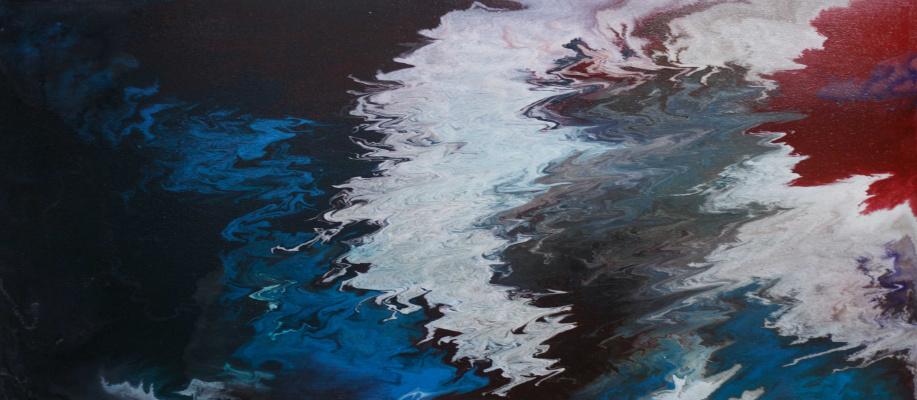 "Alla Struchayeva. The painting ""Confrontation"""