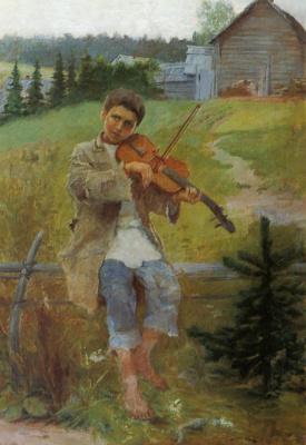 Николай Петрович Богданов-Бельский. Мальчик со скрипкой