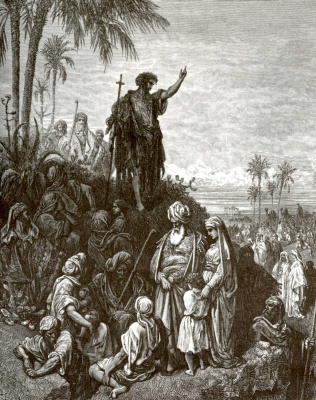 Paul Gustave Dore. Illustration to the Bible: John the Baptist