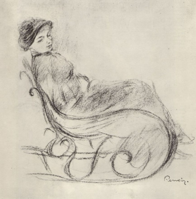 Pierre-Auguste Renoir. The woman in the rocking chair