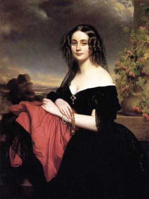 Franz Xaver Winterhalter. Claire de Byrne, the Duchess of Vallombrosa