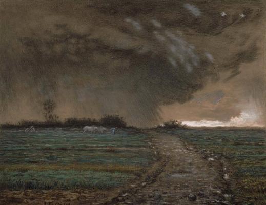 Jean-François Millet. Looming storm