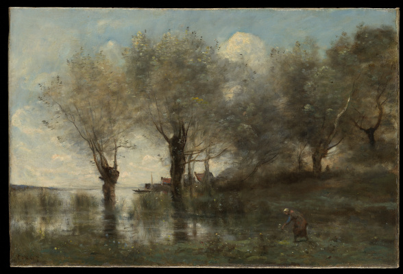Camille Corot. Picardy Pond