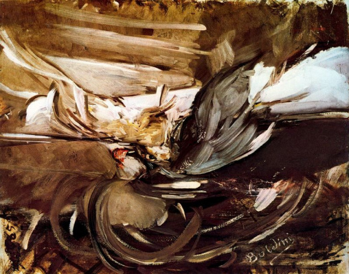 Giovanni Boldini. Still life with game on the table