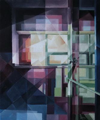 Vasily Krotkov. Play of color. Kubofuturizm