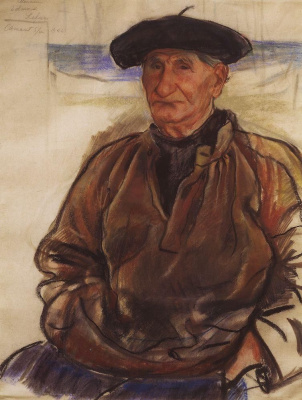 Zinaida Serebryakova. The old fisherman