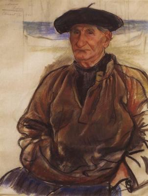 Zinaida Serebryakova. The old fisherman