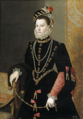 Juan Pantoja de la Cruz. Elizabeth of Valois, wife of king Philip II of Spain