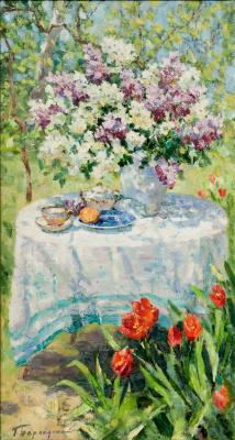 Геннадий Валентинович Бернадский. Летом в саду.