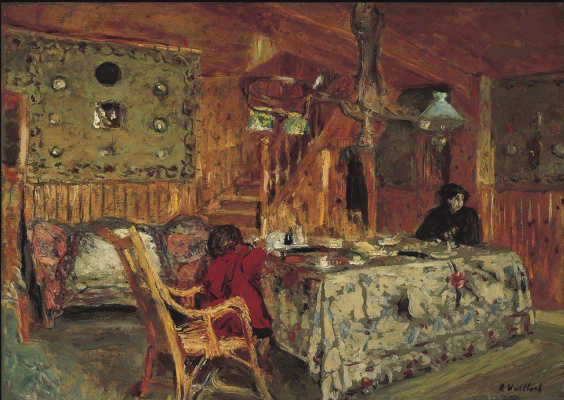 Jean Edouard Vuillard. The Pitch Pine Room (formerly Denise Natanson and Marcelle Aron in the Summer House at Villerville, Normandy)