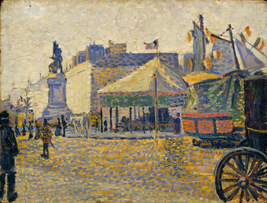 Paul Signac France 1863 - 1935. Clichy Square. 1887