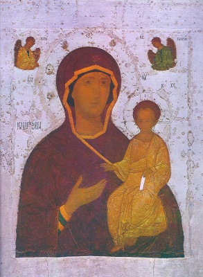 Icon Painting. The Smolensk icon of the Mother of God
