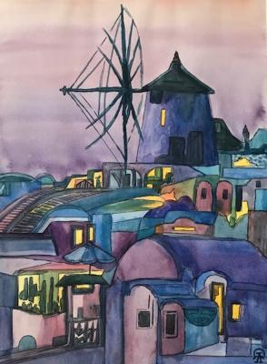 Larissa Lucania. Windmill. Sketch.