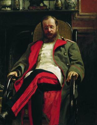 Ilya Efimovich Repin. Portrait of composer Cesar Antonovich Cui