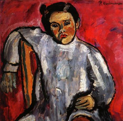 Петр Петрович Кончаловский. Наташа на стуле (Портрет Н. П. Кончаловской в детстве)