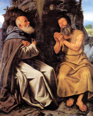 Giovanni Girolamo Savoldo. St. Anthony the Abbot and Paul