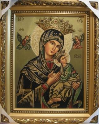 Ядвига Сенько. B. M. of perpetual help - icon of the Catholic (oil on canvas)