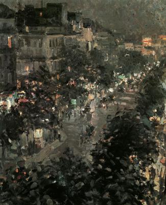 Konstantin Korovin. Paris at night. Italian Boulevard