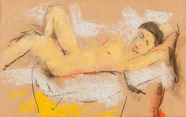 Арон Фроимович Бух. Лежащая