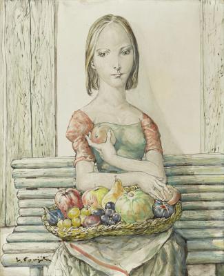 Zuguharu Fujita (Léonard Fujita). Girl with a basket of fruit