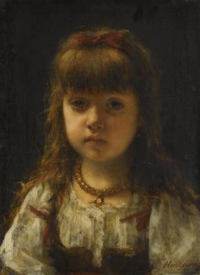 Alexey Alekseevich Kharlamov. Portrait of a girl.