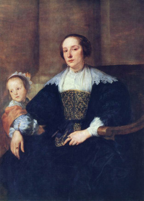 Anthony van Dyck. The wife and daughter of Colin de Nole