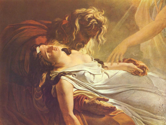 Anne-Louis Girode de Russi-Triosone. Malvina dying in the arms of Fingal