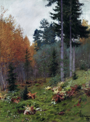 Isaac Levitan. In autumn woods