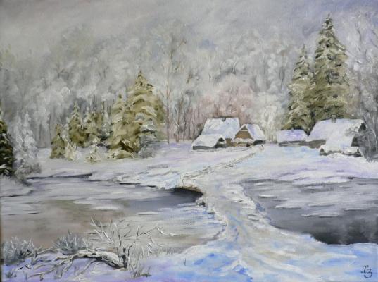 Sergei Nikolayevich Khodorenko-Zatonsky. Winter