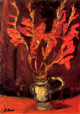 Chaim Soutine. Red gladioli