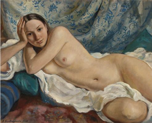 Zinaida Yevgenyevna Serebriakova. Reclining Nude