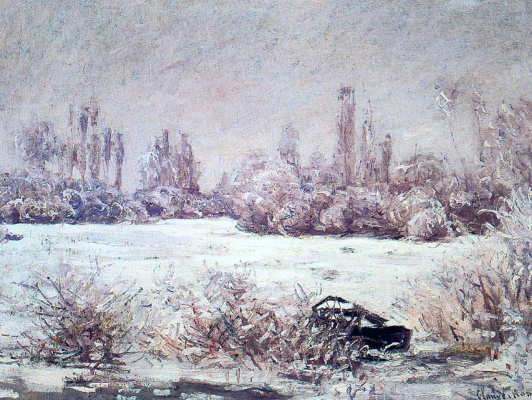 Claude Monet. Frost (Cloudy Day)