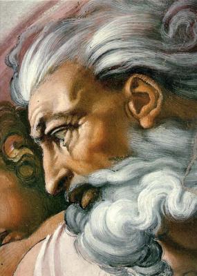 Michelangelo Buonarroti. The creation of Adam (fragment)