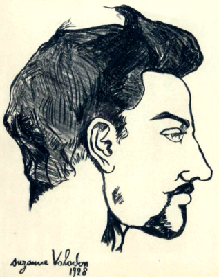 Suzanne Valadon. Portrait of Utrillo in profile