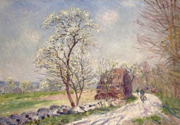Альфред Сислей. Вдоль леса весной