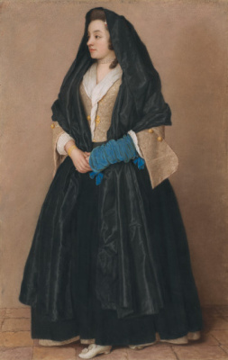 Jean-Etienne Lyotard. Elegant girl in Maltese costume