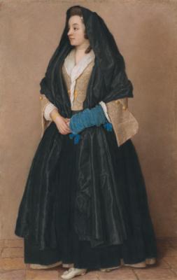 Jean-Etienne Lyotard. Elegant girl in Maltese costume