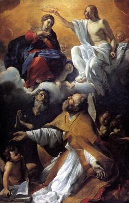 Джованни Ланфранко. Коронование Девы Марии со святыми Августином и Уильямом