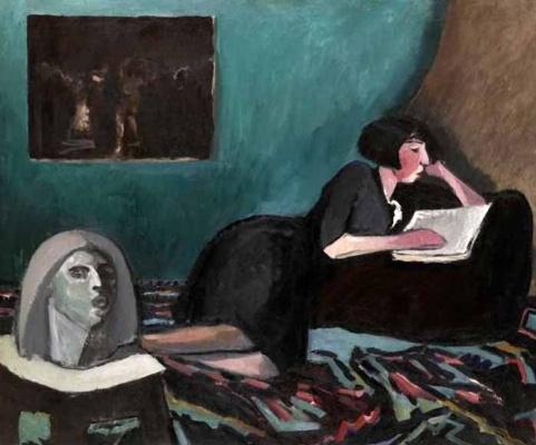 Константин Николаевич Истомин. Читающая женщина