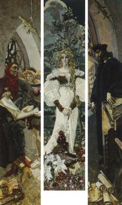 Mikhail Aleksandrovich Vrubel. Faust. Triptych