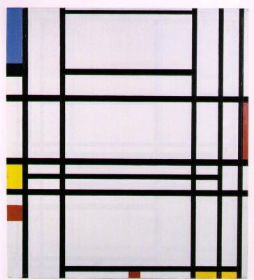 Piet Mondrian. Composition 10