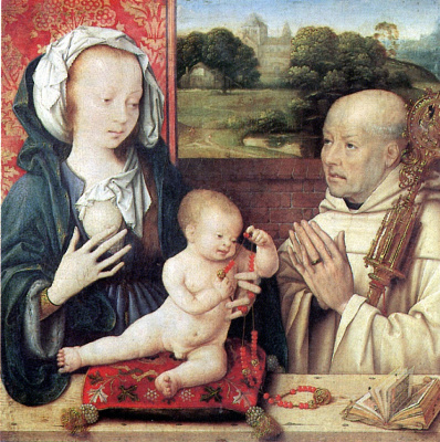 Jos van Kleve. Madonna and child with a donor-Dominican