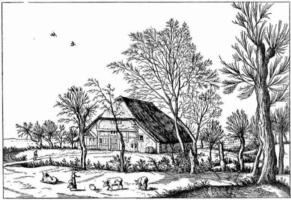 "Pieter Bruegel The Elder. The series ""Small landscapes"". Landscape No. 10"