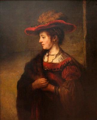 Карел Фабрициус. Портрет Саскии ван Эйленбюрх (по Рембрандту)