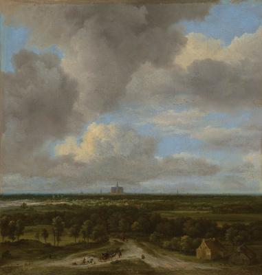 Jakob van Isaacs Ruisdael. View of harlem