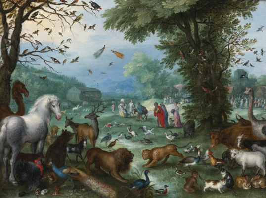 Jan Bruegel The Elder. Noah collects animals for the ark. 1596