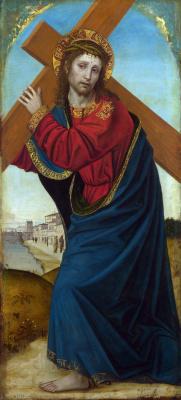 Амброджо  Бергоньоне. Несение креста