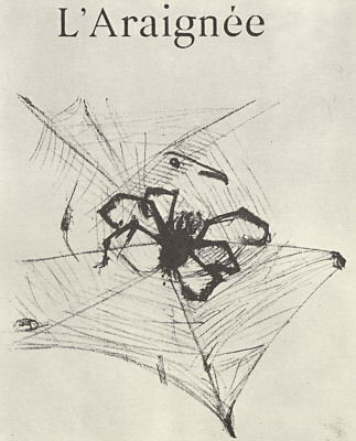 "The illustration to the writing of Jules Renard's ""Natural history."" Spider"