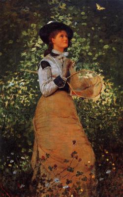 Winslow Homer. Girl with butterflies
